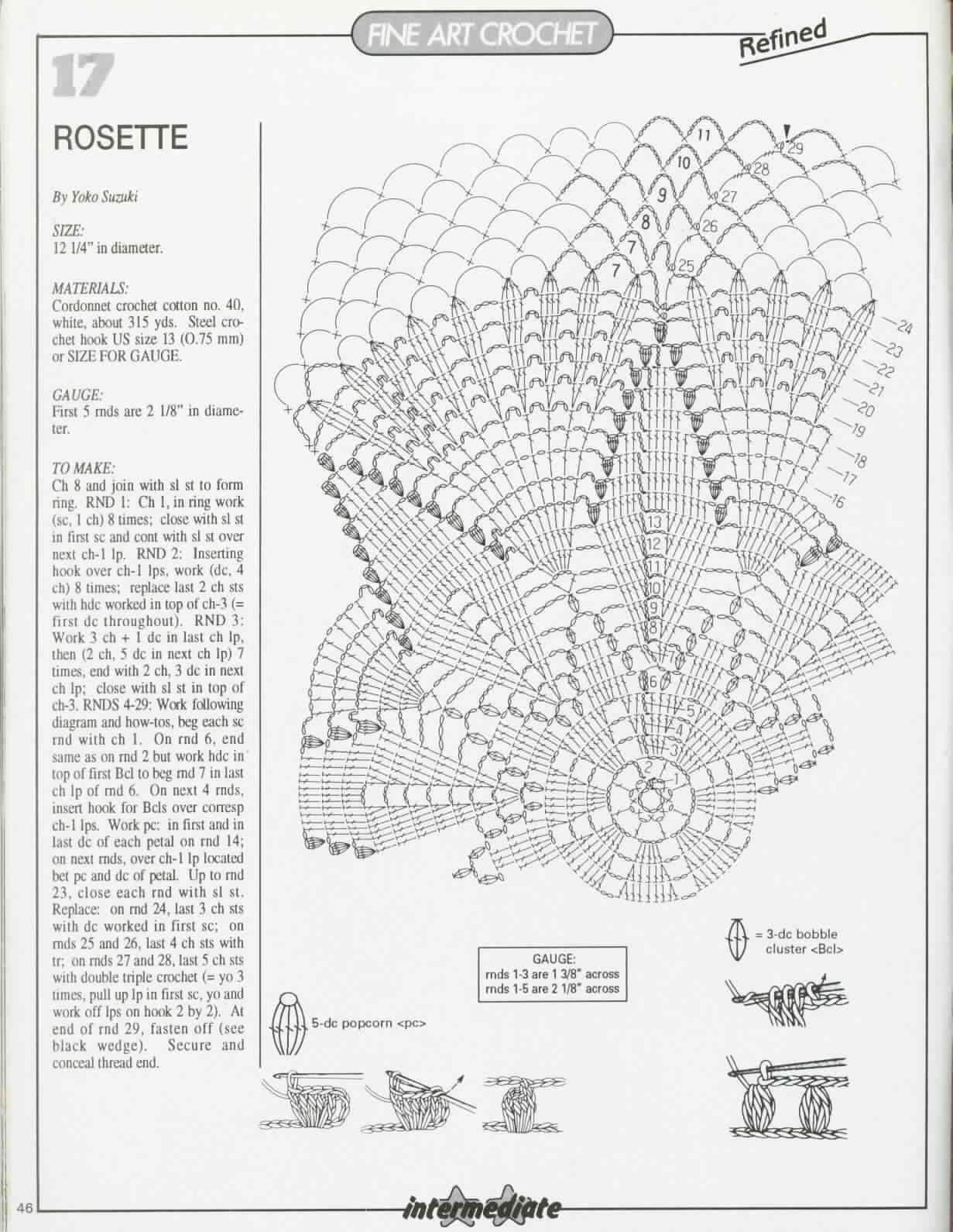 Kira scheme crochet: Scheme crochet no. 1453