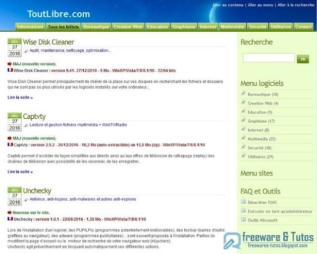 Le site du jour : ToutLibre.com