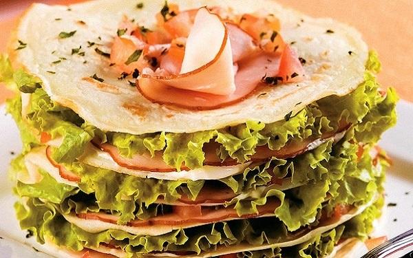 Receita de salada de panqueca (Imagem: Reprodução/Abril)