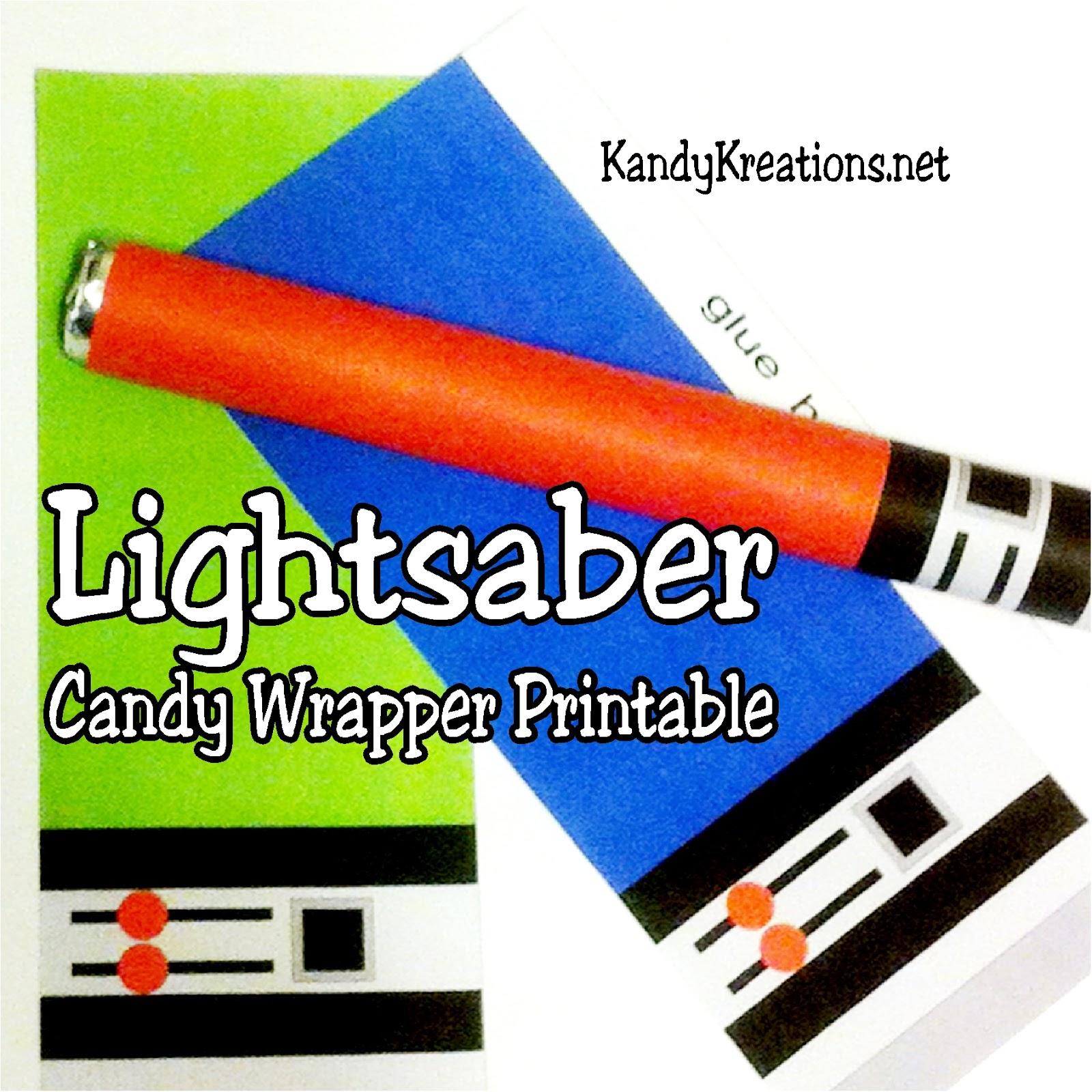 photo regarding Lightsaber Printable named Do-it-yourself Social gathering Mother: Lightsaber Adorable Tart Sweet Wrapper Printables