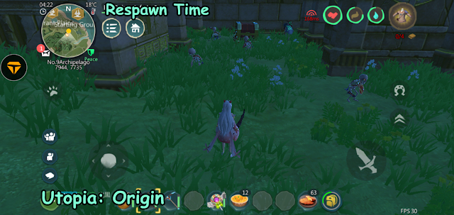 Utopia: Origin of Duration of Respawn Time for Plants, Monsters, Mine, and Chests