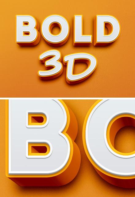 Plantilla para crear texto con efecto 3D en Photoshop (PSD)