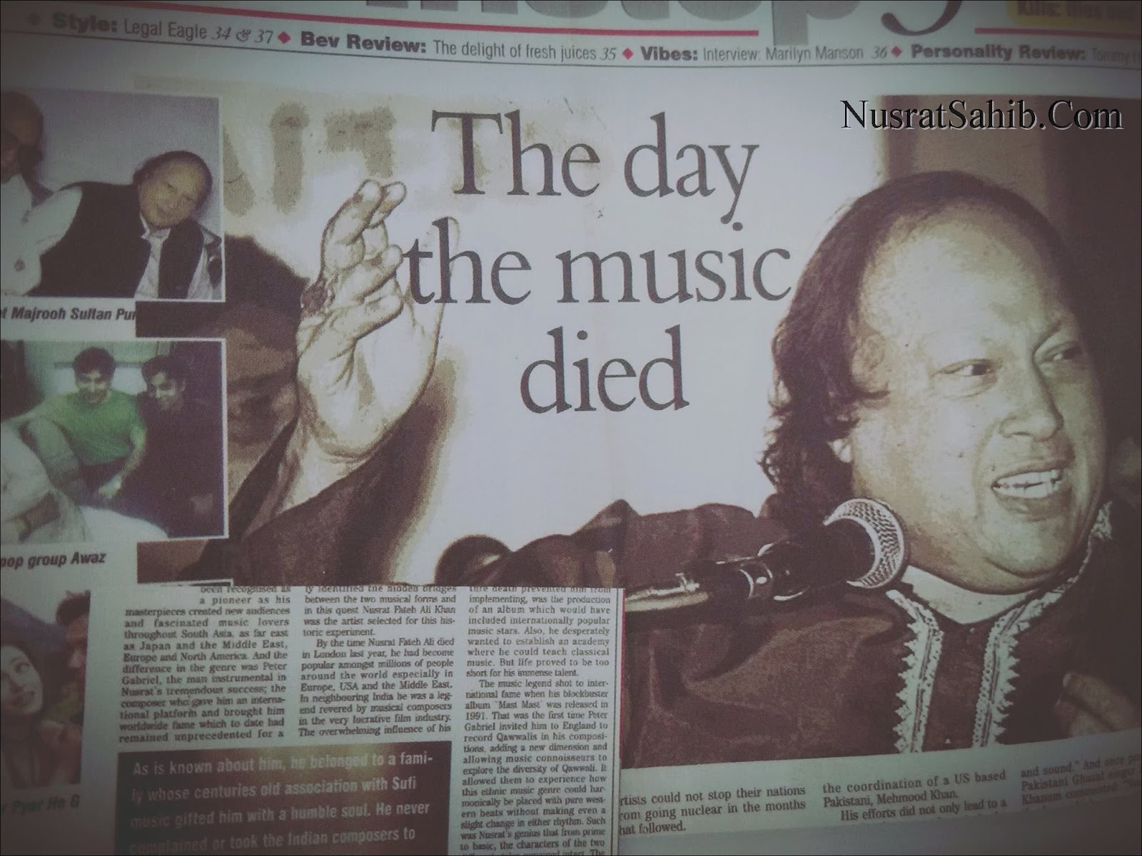 The Day the Music died | Nusrat Fateh Ali Khan | NusratSahib.Com