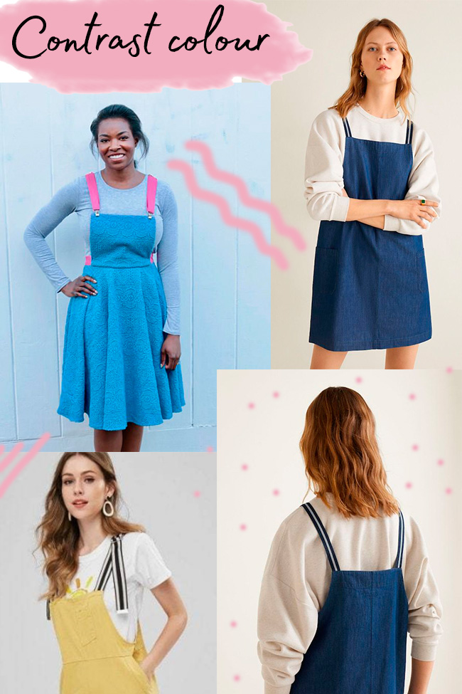 10 strap ideas for the Cleo dress - contrast straps