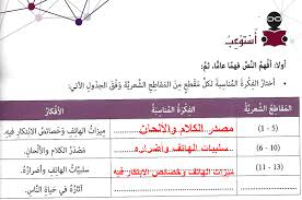 حل درس الهاتف المحمول لغة عربية صف ثامن فصل ثاني 2019