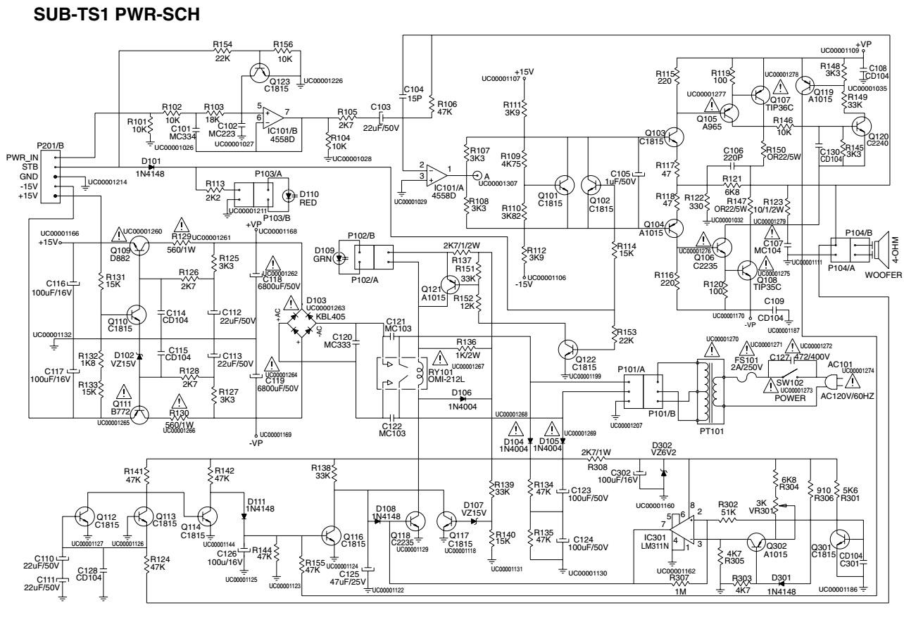 Harman Kardon Sub Ts1 Amplifier Sub Woofer Schematic