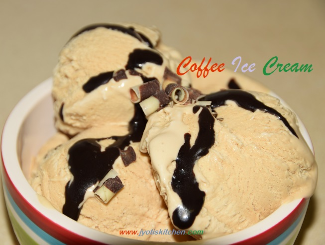 Coffee Ice Cream recipe with step by step photo