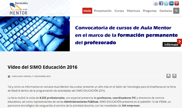 Página web de Aula Mentor Barakaldo