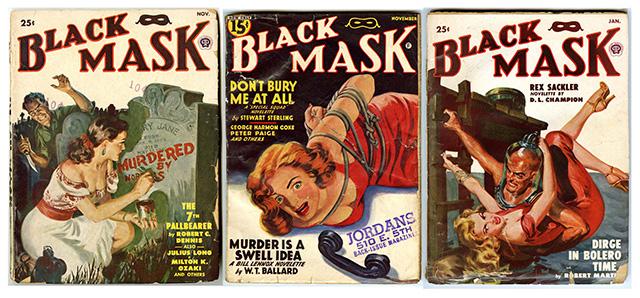 "Vinatge ""Black Mask"" Pulp Magazine Covers"