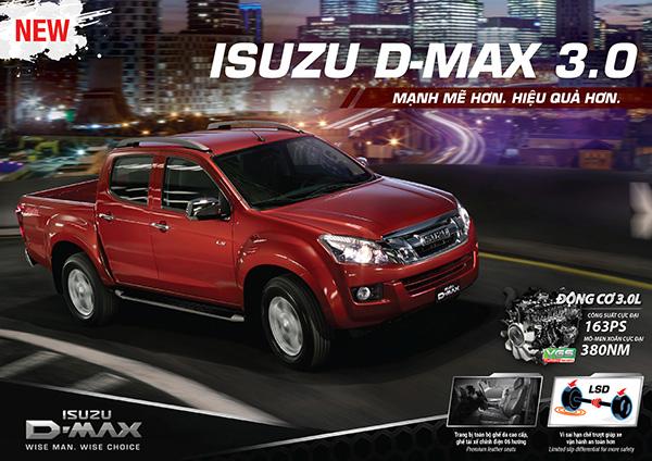 Isuzu Dmax chỉ được trang bị 2 túi khí cho tất cả các phiên bản