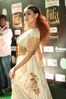 Apoorva Spicy Pics in Cream Deep Neck Choli Ghagra WOW at IIFA Utsavam Awards 2017 98.JPG