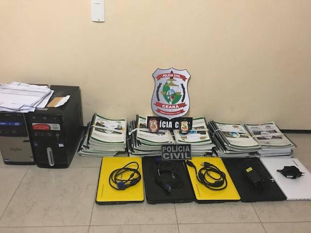 Polícia investiga esquema de alteração em notas de alunos de Itapajé que visava obter recursos públicos