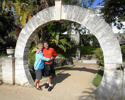 Magic moon gates in Bermuda.  Photograph of Janie Robinson, Travel Writer