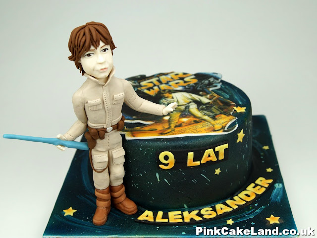Star Wars Luke Skywalker Birthday Cake