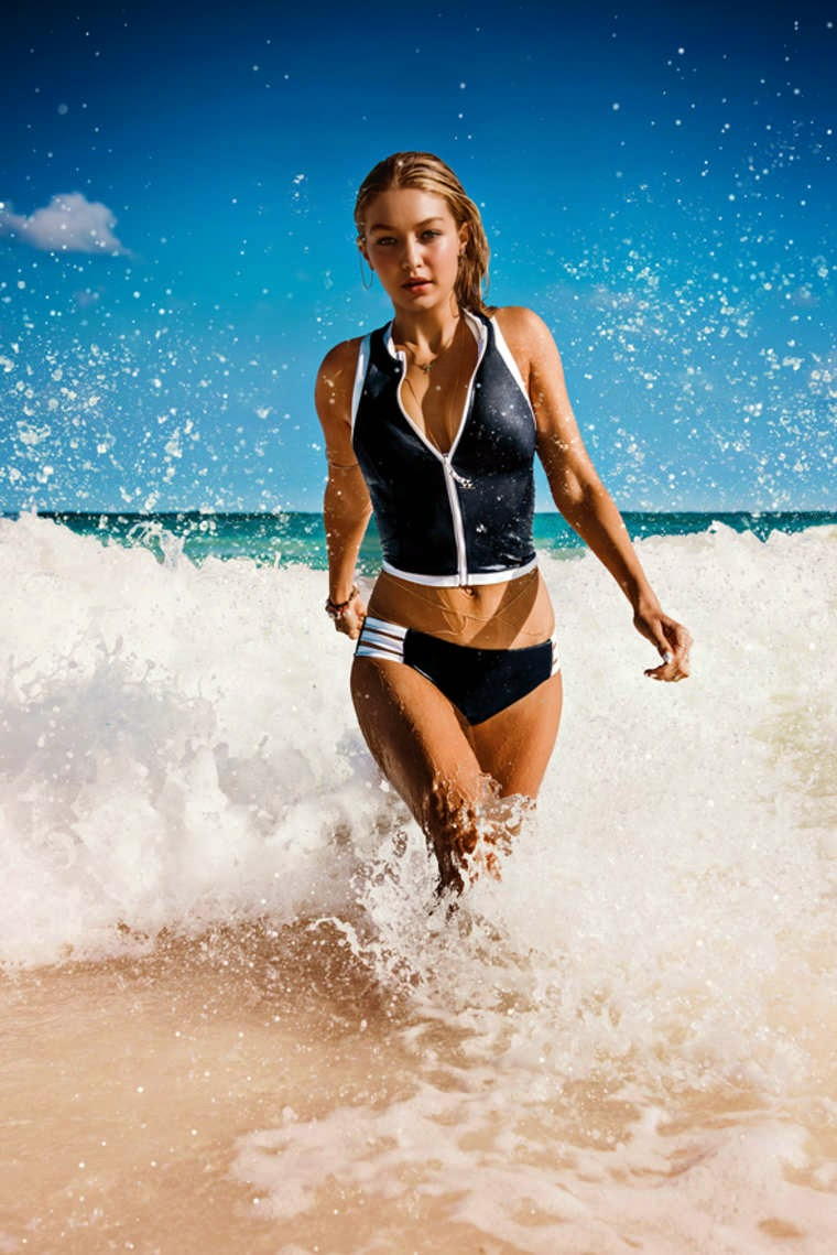 Gigi Hadid stars for the Seafolly Bikinis Spring/Summer 2015 Campaign