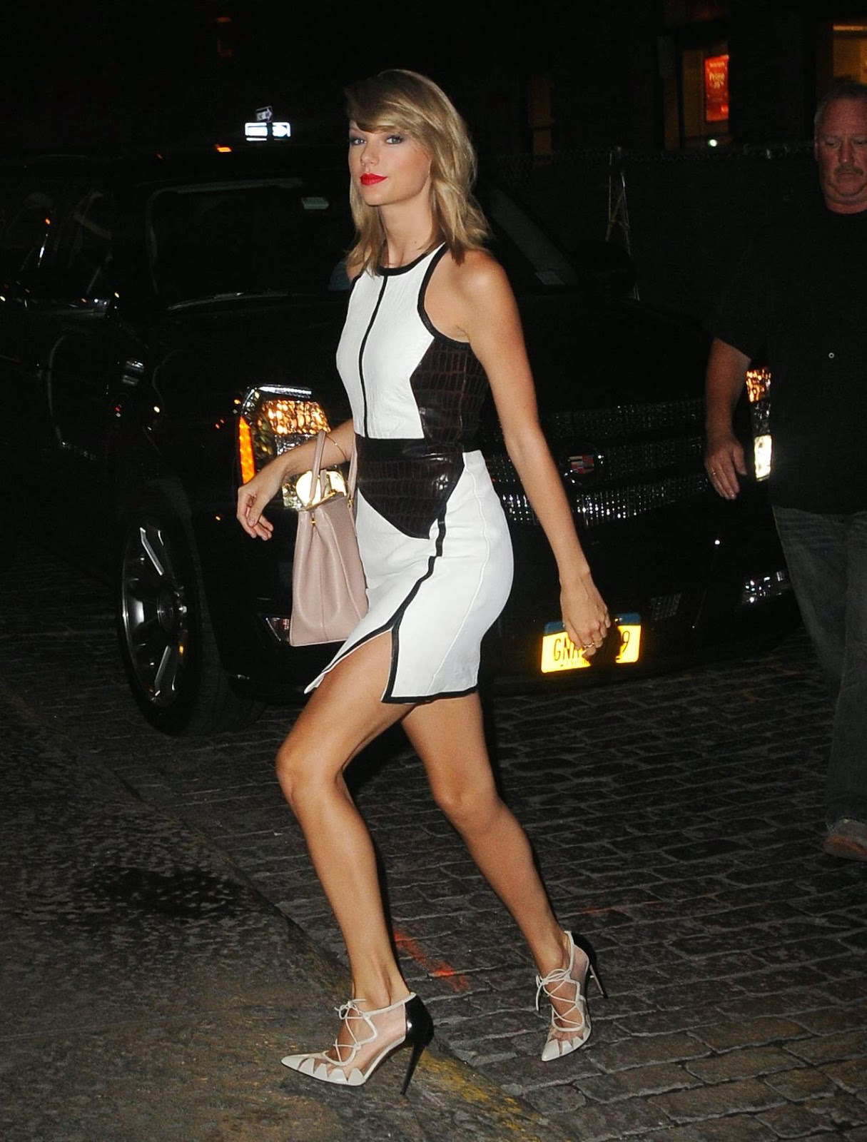 Taylor Swift flaunts a Jonathan Simkhai dress out and about in Soho