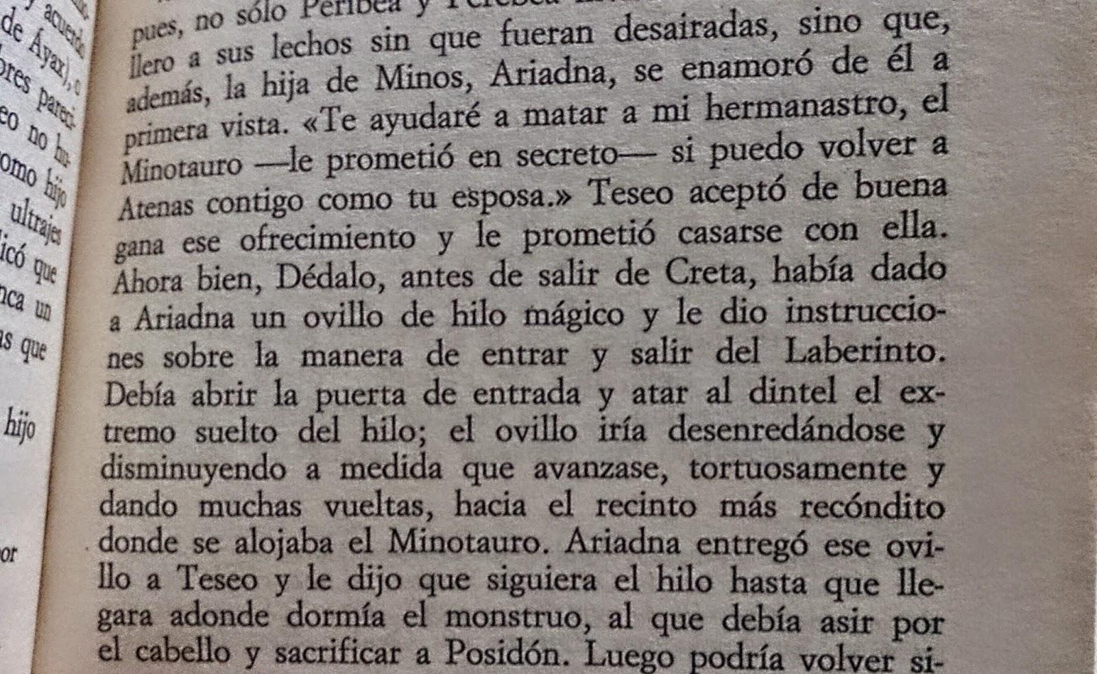 Teseo en Creta. Los Mitos Griegos. Robert Graves. Ariadna. Minotauro