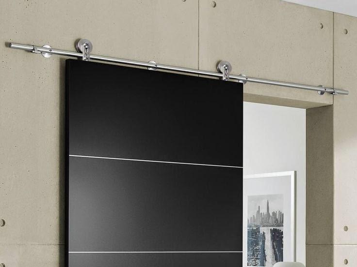 gambar pintu kamar mandi sliding alumunium warna hitam
