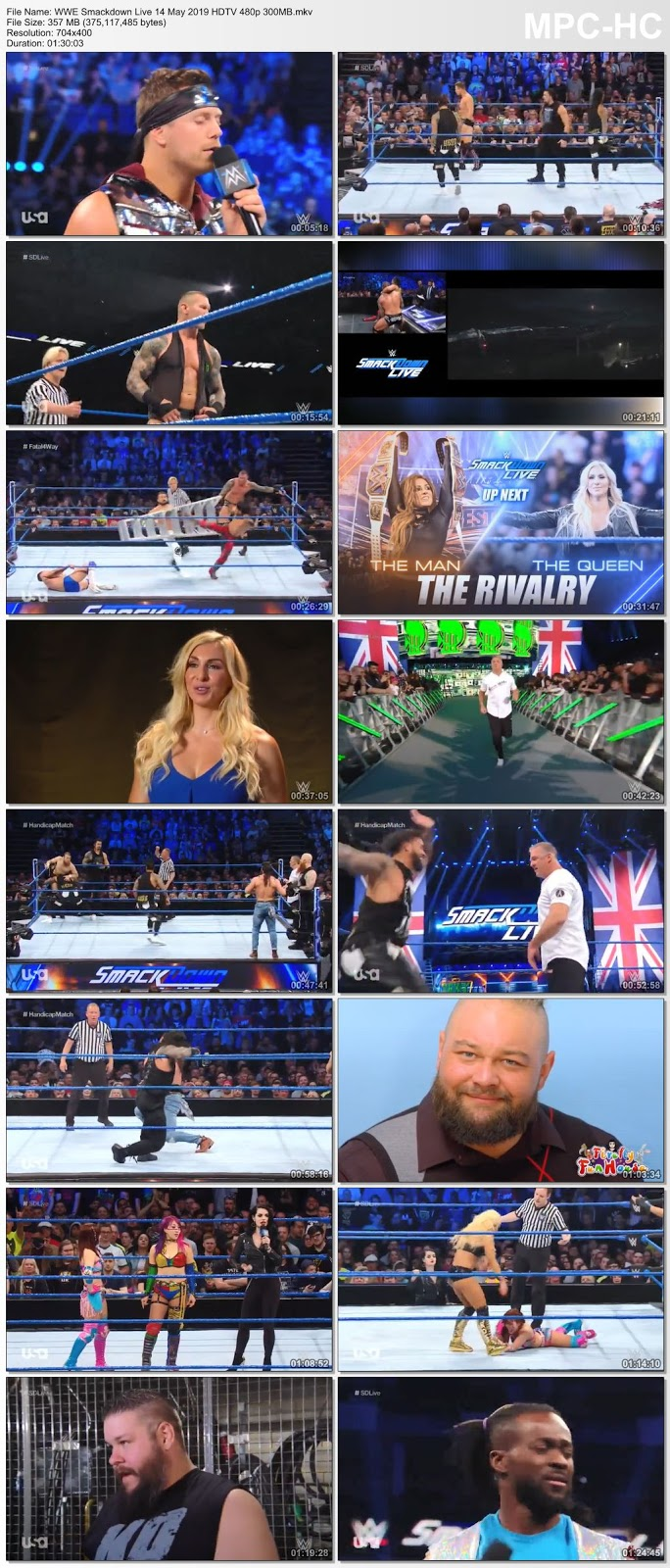 Screen Shoot of WWE Smackdown Live 14 May 2019 HDTV 480p 300MB