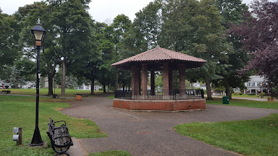 the Town Common in the rain Sunday morning