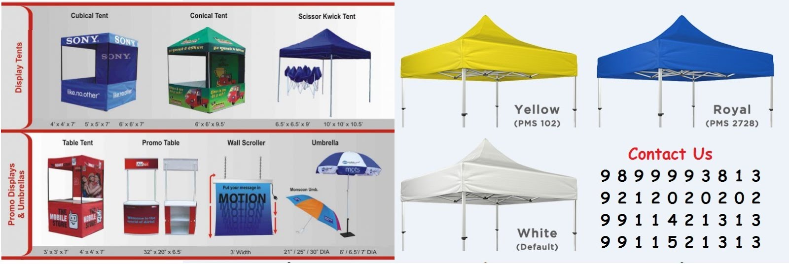Manufacturers of Display Canopy Tents in New Delhi Supply All Over India  sc 1 th 130 : tent display - memphite.com