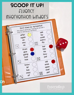 Fluency Intervention Binder Activities for Improving Fluency