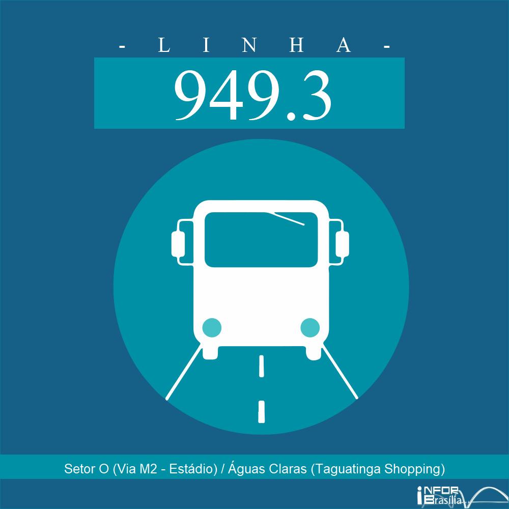 Horário de ônibus e itinerário 949.3 - Setor O (Via M2 - Estádio) / Águas Claras (Taguatinga Shopping)