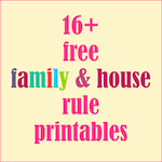 free family rule printables