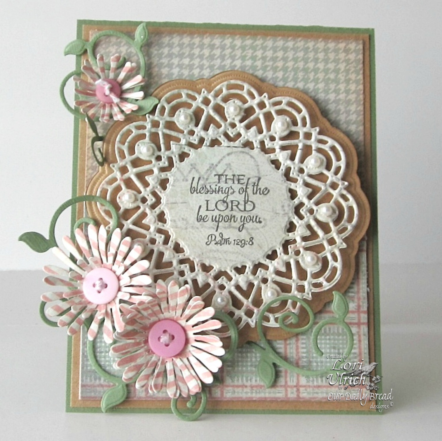 Stamps - Our Daily Bread Designs Birthday Doily, Doily Blessings, ODBD Custom Fancy Foliage Die, ODBD Custom Doily Die, ODBD Custom Asters and Leaves Die, Soulful Stitches Paper Collection