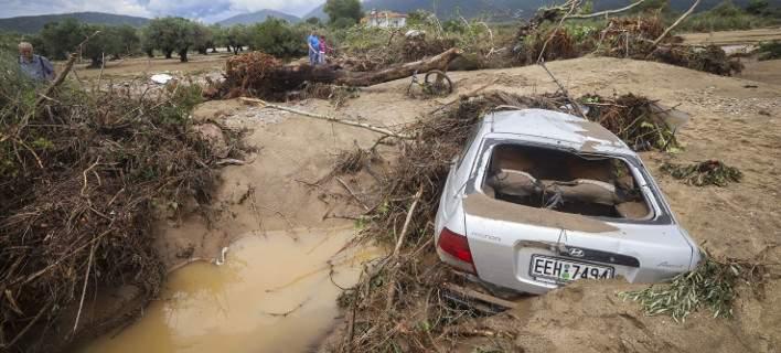 Βρασνά μετά τις πλημμύρες: Δρόμοι στα δύο, κατεστραμμένα αυτοκίνητα, ζημιές σε σπίτια και ξενοδοχεία