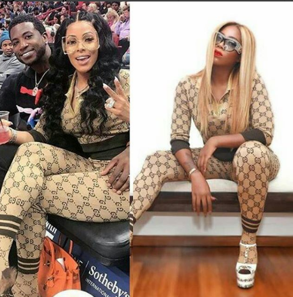 Who rocked the head-to-toe Gucci better between Tiwa Savage and Keyshia Kaoir