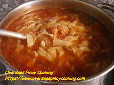 Vigan Miki Soup, plus Red Soup - Cooking Procedure