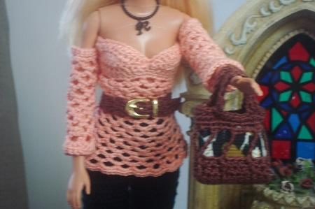 Blusa de crochê para Barbie de Pecunia MillioM