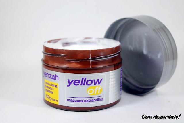 mascara extra brilho yellow off yenzah