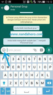 cara menggunakan stiker whatsapp di android
