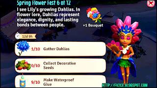 Calla, dancer girl, samba costume, farmvilletropicescape