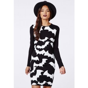 affea690f5bc I love this Buffy Bat Print Bodycon dress, wear with the Upper Street Bat  shoes, the Missguided Veil Beanie and a nice fur coat, it's the perfect  ensemble ...