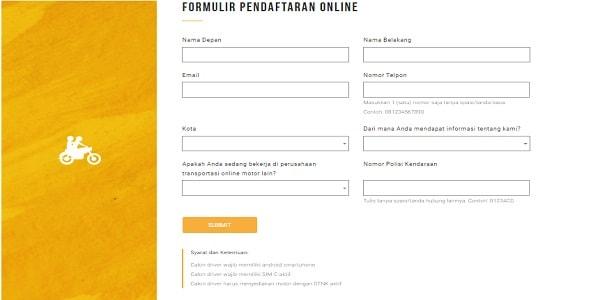 Cara Daftar Driver Gojek Via Online dan Offiline