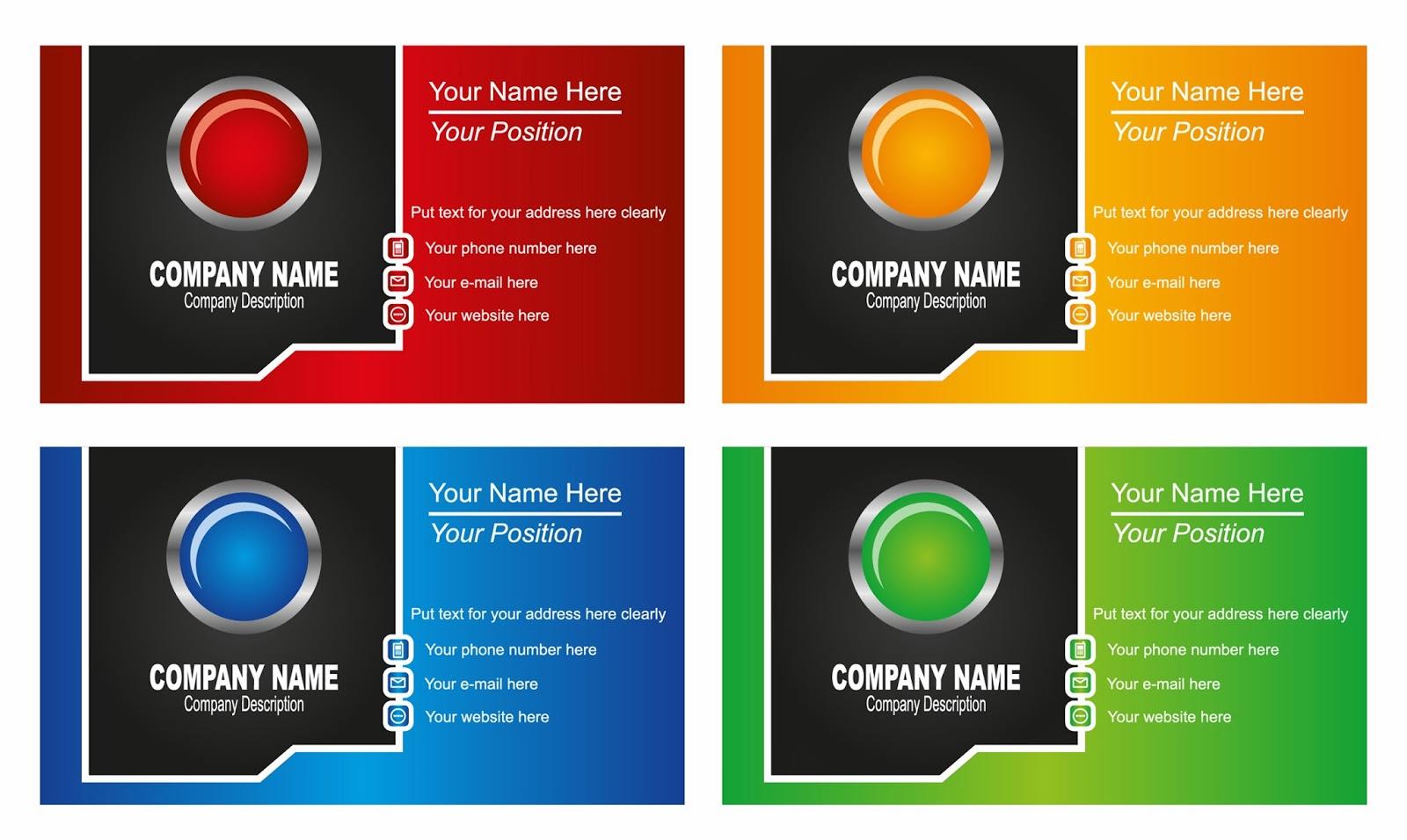 50+ Download Template Kartu Nama Keren Gratis Format PSD ...