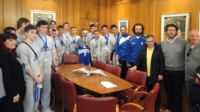 Επίσκεψη της Εθνικής ομάδας Χάντμπολ Εφήβων στο Δήμαρχο Αλεξανδρούπολης