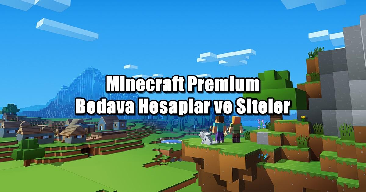Minecraft Premium Bedava Hesaplar ve Siteler
