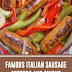 Famous Italian Sausage Peppers and Onions #italianrecipes #sausage