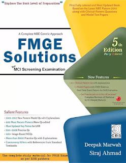 FMGE Solutions for MCI Screening Examination 5th Edition 2019 By Deepak Marwah & Siraj Ahmad pdf free download