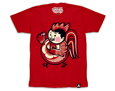 "Chinese New Year ""Year of the Rooster"" Big Kid T-Shirt by Johnny Cupcakes"