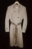 LoveLea's faux fur leopard coat belt, front