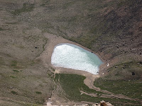 A small lake on Mount Elbert