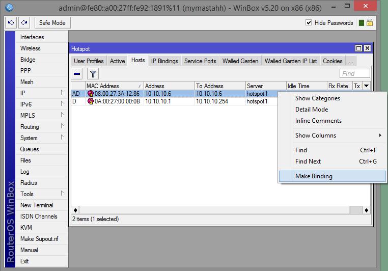 Membuat User Tidak Perlu Login di Hotspot Mikrotik dengan IP
