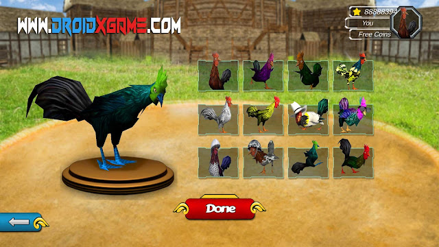Download Game Android Angry Rooster Fighting Hero: Farm Chicken Battle Mod Apk [Unlimited Money]