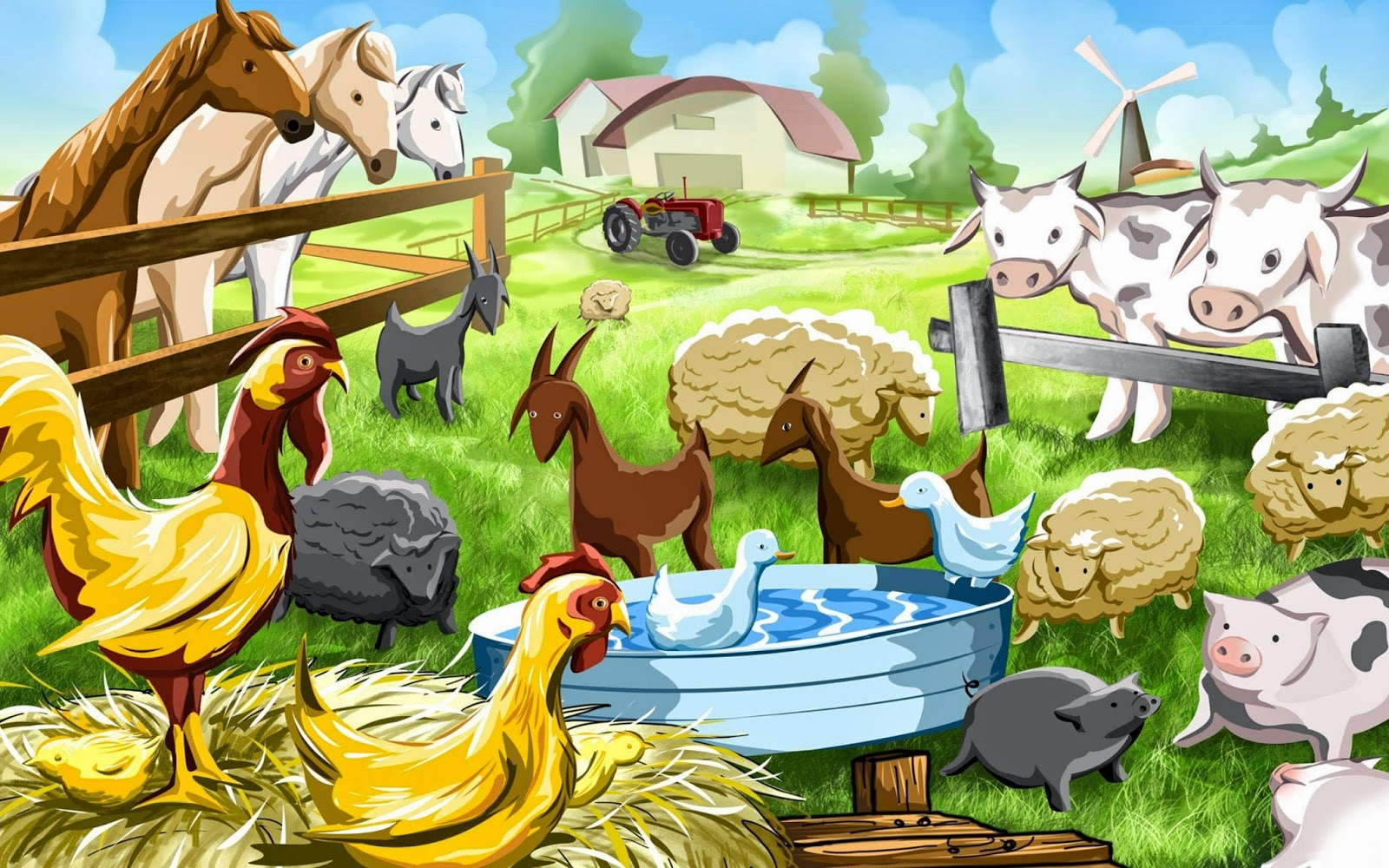 hd animals cartoon
