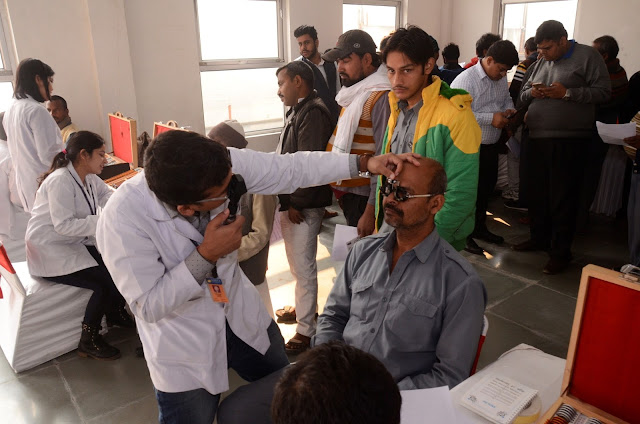 Drivers at the Toyota conducted Health Check-up Camp in New Delhi